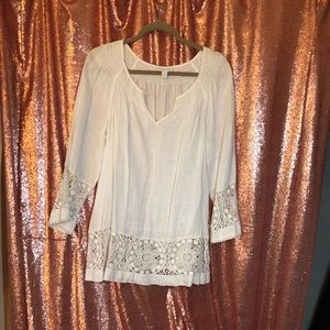 Charter Club Tunic with Lace Panel
